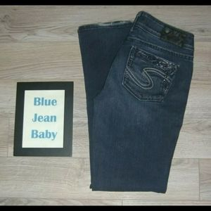 Silver Suki Jeans Dark Studded Bling The Buckle 28